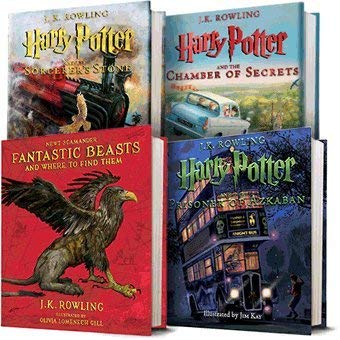 HP illustrated books. Bookish gift guide. Gift guide for book lovers. What to buy for a book lover