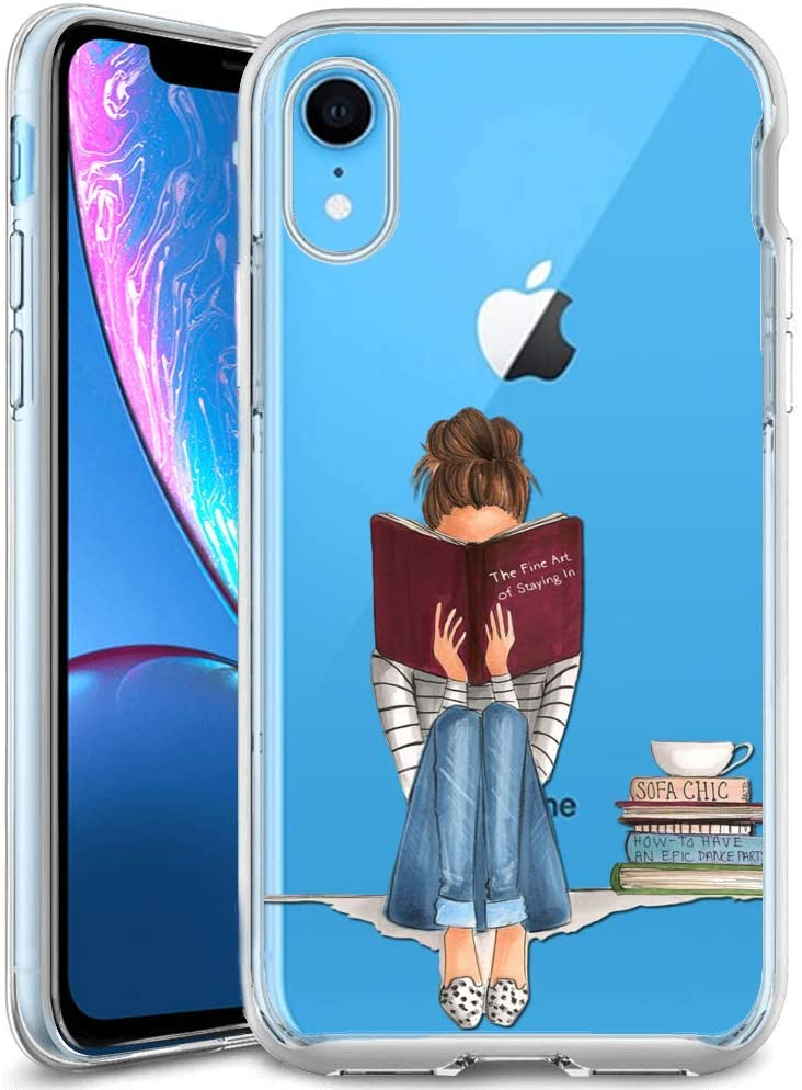 Girl reading phone case gift for book lovers. what to get for a bookworm gifts every book lover or reader needs. gift ideas for readers bookworm gifts