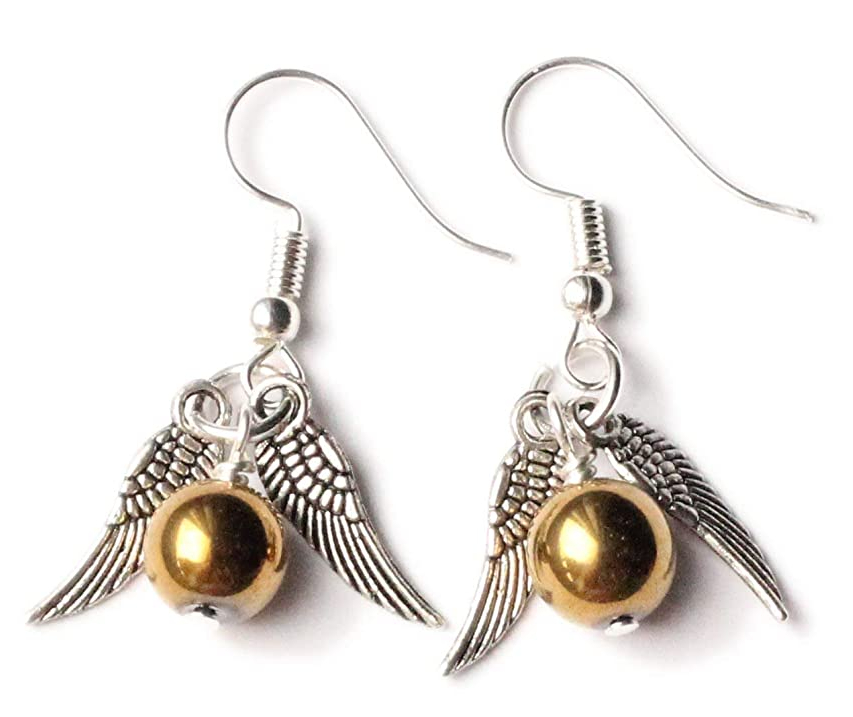 Golden Snitch earrings, Harry Potter gifts for book lovers, Gift ideas for Potterheads. bookworm gifts, what to get for a bookworm gifts every book lover or reader needs