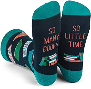 so many books, so little time bookish socks. best gift for a book lover, gift guide for readers