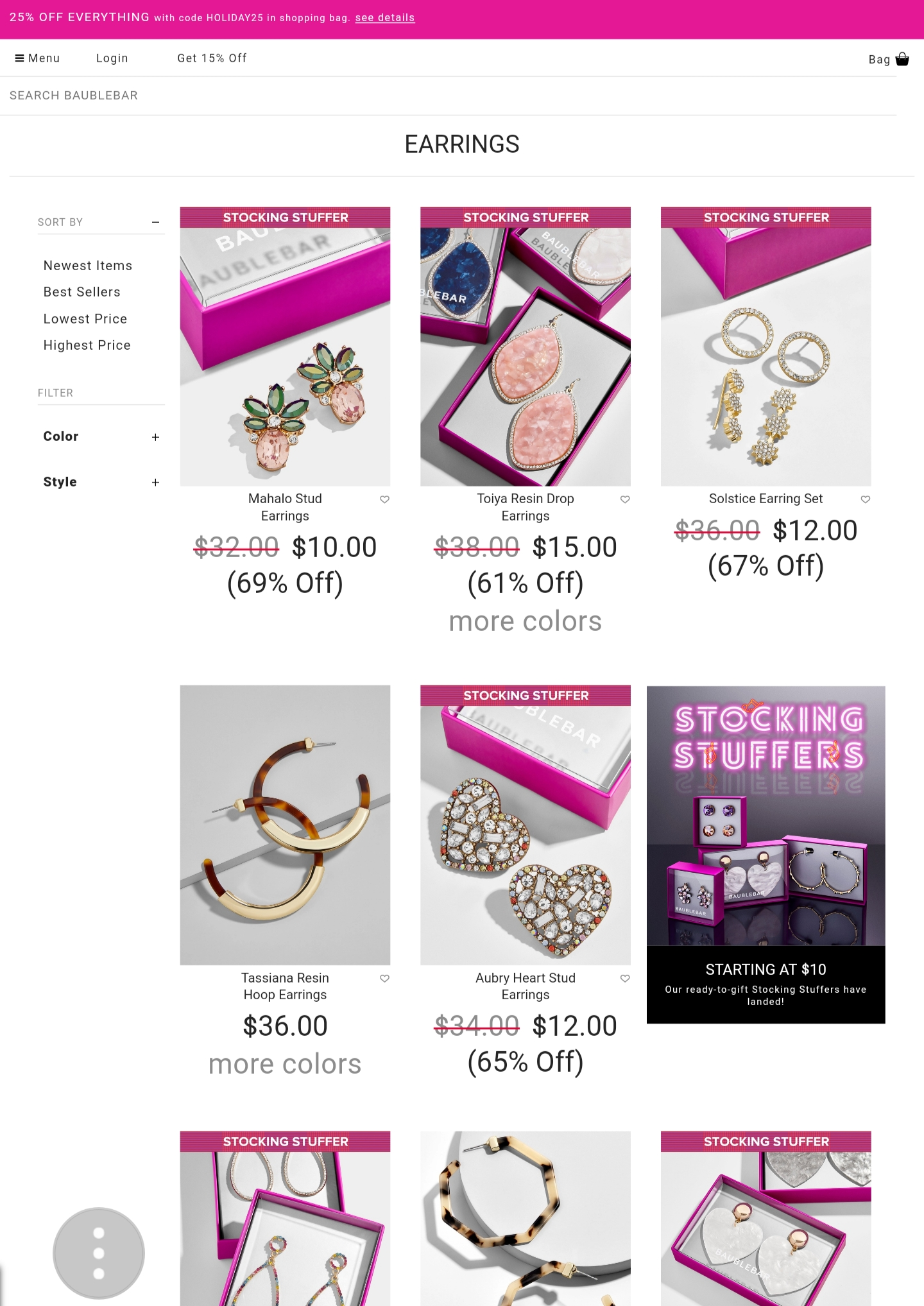 Top place to buy cheap jewelry and affordable jewellery from. Low-priced jewellery for the simple jewelry lovers and bold jewelry. Budget-friendly jewellery for all. Your affordable jewelry gift guide. Gift guide for her. Stocking stuffers for her. Christmas gift guide