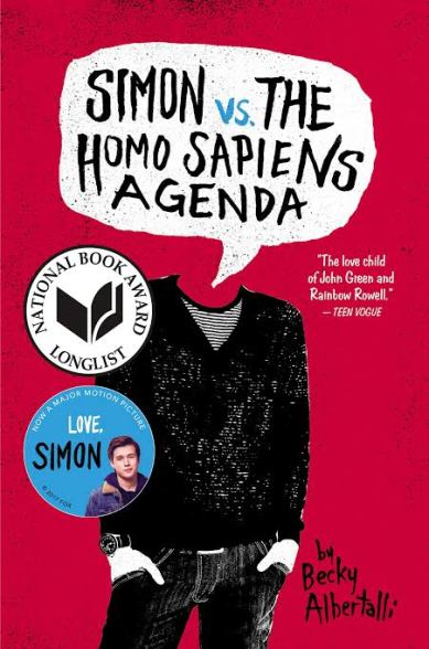 Best Becky albertalli book. Love, Simon book cover. Top LGBT books. Some of the best lgbtq+ books. High school books. Book about homophobia