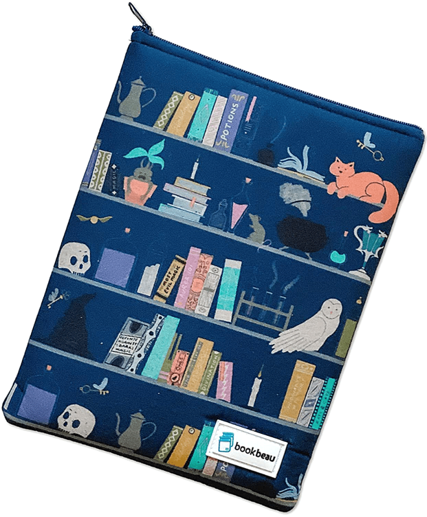 Portable book sleeve from Book Beau as a good gift to give with a book. gifts for readers gift ideas for book lovers, gifts for book lovers from Amazon