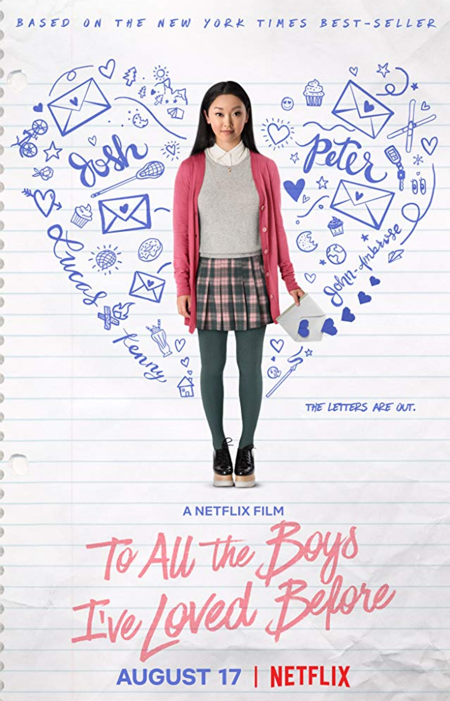 movie poster of to all the boys i've loved before. top romance movies. top teen romances. top 2018 movies