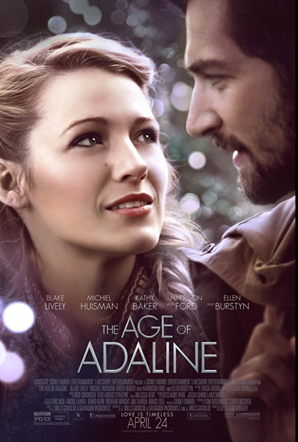the age of adaline movie poster. top romance movies. best romance movies.