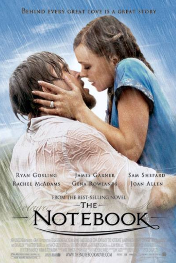 Top romance movies to watch. Best romance movies of all time. the notebook movie poster