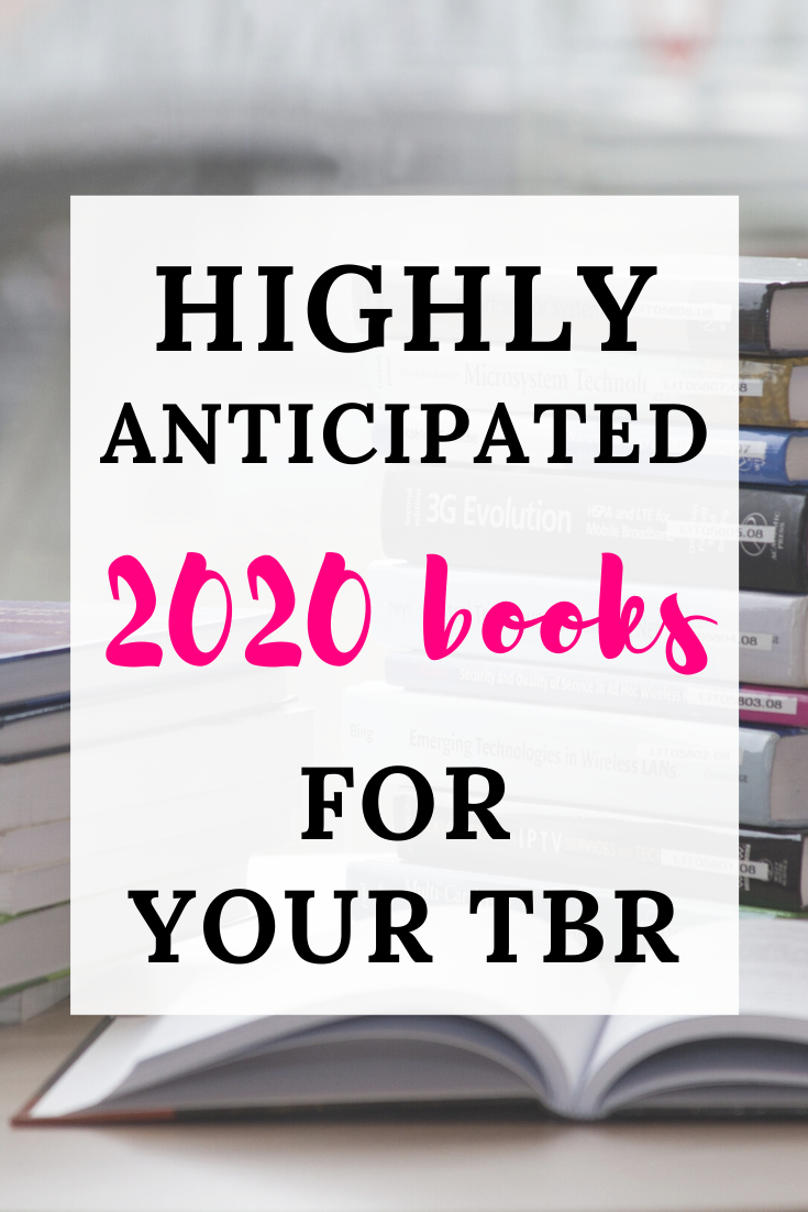 Highly anticipated 2020 books for your TBR text overlayon a picture of a book stack