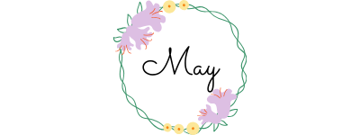 may text in a circle of flowers