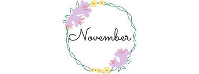 november in a circle of flowers