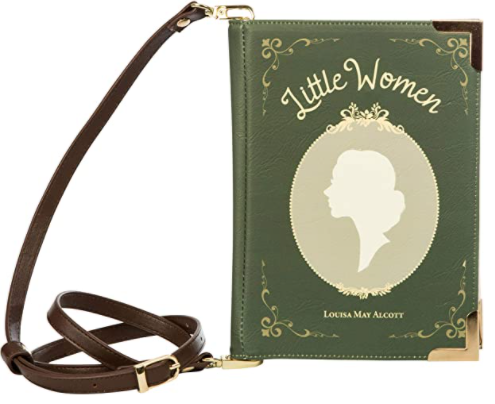 Little Women crossbody shoulder bag for book lovers from the Well Read store. Gifts for readers of classic books. what is a good gift to give with a book? what do you give a reader?