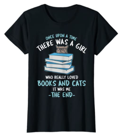 Once upon a time bookish t-shirt as gifts for book worms and readers. best gift for a book lover good gift to give with a book, bookworm gift basket