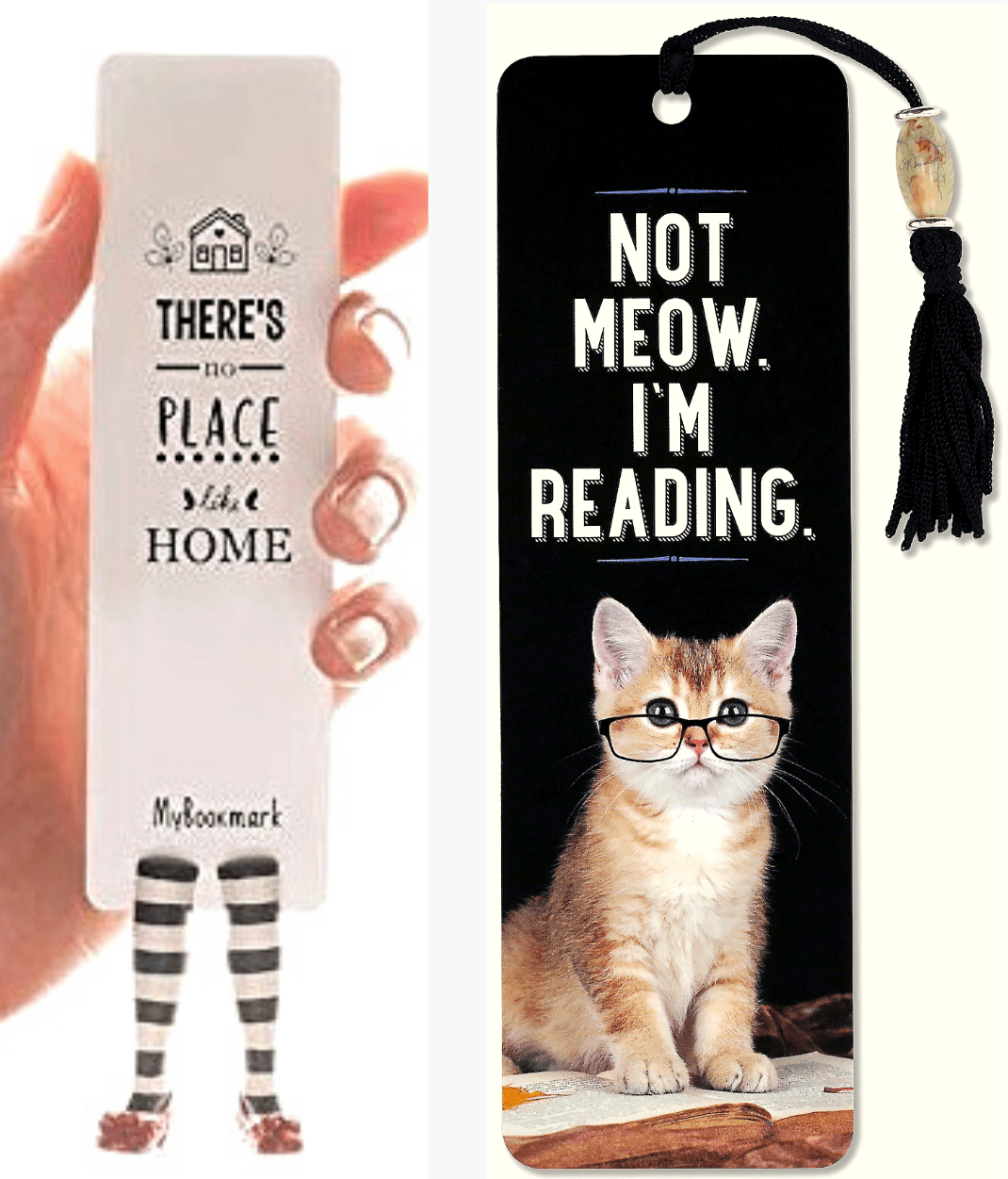 Bookmark gifts for book lovers, includes paper and wood bookmarks to gift book worms and readers. good gift to give with a book, best gifts for book lovers from Amazon