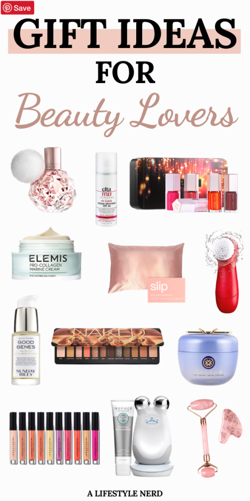 Gift Ideas for Beauty Lovers. A perfect holiday gift guide that beauty lovers are sure to love for any budget! Gift Guide for the Beauty Lover. Gift ideas for the beauty junkie. Best beauty gifts and stocking stuffers for skincare and makeup. Beauty gifts for birthday, holiday and Christmas