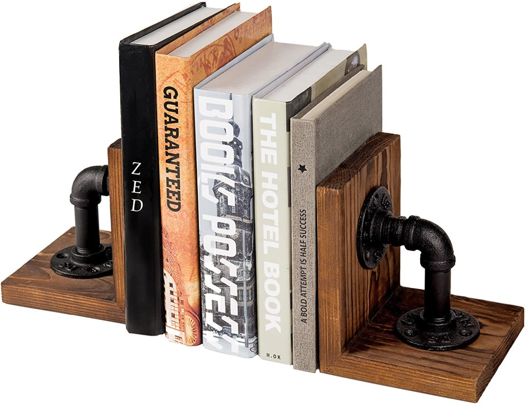 Rustic Wood Tabletop Bookends gift for display and organizing books