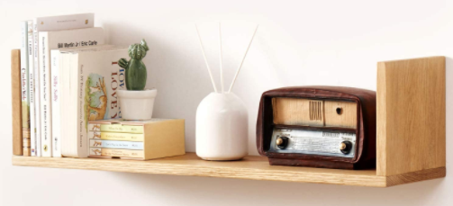 This simple, rustic floating bookshelf is a very lovely addition to the home décor. Bookish home decor gifts for book lovers. Gifts to give as presents to book worms and bibliophiles