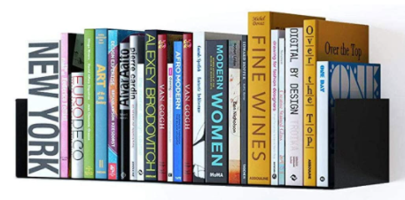 Floating U-Shape Shelf Book Storage Display from the Wallniture store. Bookworm gifts and literary-themed ideas for readers. Unique gifts for bookworms and readers