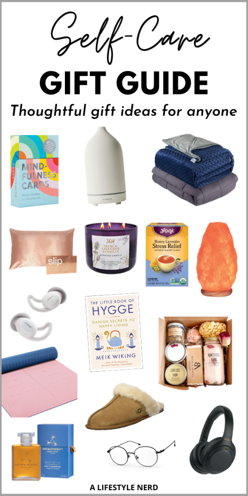 Self care gift guide: Thoughtful gift ideas for anyone. Self care kit. Good gifts for self care. The best self care gifts on Amazon. Inexpensive self care gifts under $10, $20, $50. Wellness box gifts. Best wellness gifts on amazon. Eco friendly self care gifts. Self care gifts for anxiety and depression. top wellness gifts 2020, Wellness christmas gifts 2020. Best self care gifts. Self care gift ideas. Self care gifts for women.