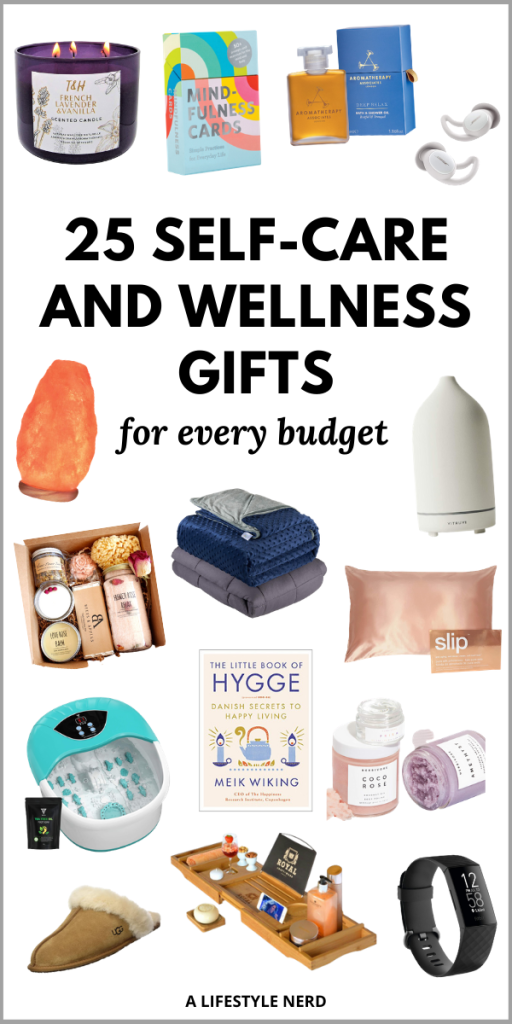 25 self care and wellness gifts for every budget. Thoughtful self care gifts. Self care package gifts. Wellness gifts for friends and staff. Self care gifts for moms. Self care gifts for friends. Relaxation gifts for her that she'll appeciate. Self care gift basket. Self care gift box. Self care package ideas. Self care kit. Good gifts for self care. The best self care gifts on Amazon. Inexpensive self care gifts. Self care gifts amazon. Self care birthday gifts