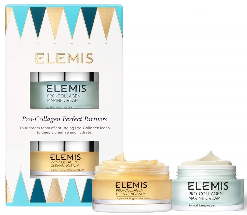 Elemis Pro-Collagen Perfect Partners. Elemis pro-collagen cleansing balm and marine cream. Best self care products