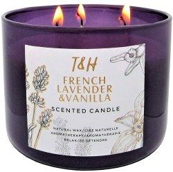 lavender scented candle for stress relief, self-care and wellness gifts for Christmas