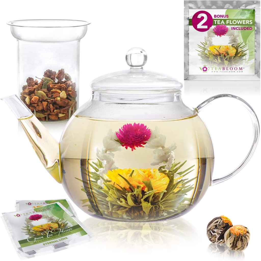 teapot set with stress relief tea bags. Best self care gifts. Self care gift ideas. Self care gifts for women. Wellness gifts for him. Self care Christmas gifts. Relaxing gifts for her for a self care session.